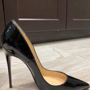 Christian Louboutin Black patent leather stiletto
